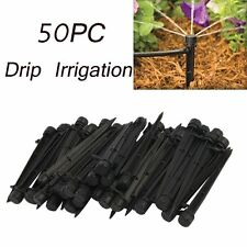 50 x Adjustable Water Flow Irrigation Drippers on Stake 360° Emitter Drip System