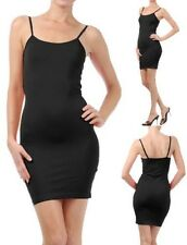 CAMI MINI DRESS BodyCon Extra Long camisole tank top slip seamless stretch