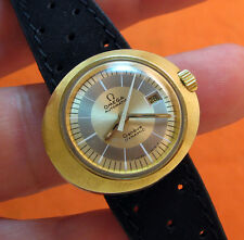 SERVICED OMEGA GENEVE DYNAMIC GOLD CAPPED AUTOMATIC LADY'S WATCH 681