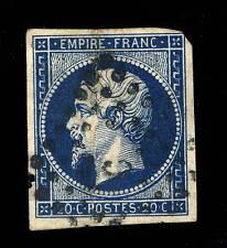 FRANCE - N°14A 20c EMPIRE ND Type 1 OBLITÉRÉ (12a) Obl. Losange C de Paris