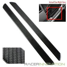 485mm Carbon Fiber Left/Right Front Door Side Panel Sill Scuff Plates Protector