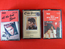 Elvis Presley Cassettes x 3 - Vintage Collectable Music Memorabilia