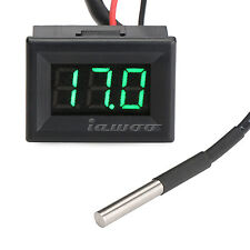 Green LED Thermometer -55 to 125°c Digital Temperature Measurement DS18b20 Probe