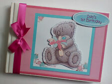 PERSONALISED TATTY TEDDY BOY/GIRL /FIRST/1ST BIRTHDAY GUEST BOOK ANY DESIGN