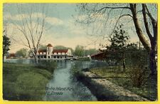 cpa POST CARD CANADA TORONTO The Boat House Centre ISLAND PARK