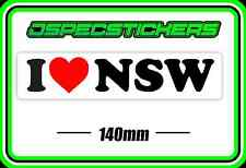 STICKER I LOVE NEW SOUTH WALES CAR BUMPER TRAILER STICKER NSW SYDNEY ORIGIN