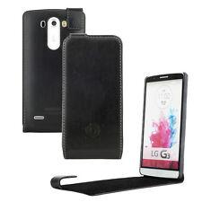 bugatti FlipCover Oslo Schwarz Case Leder Schutzhülle Tasche für LG G3