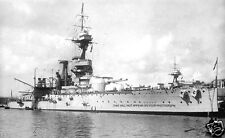 ROYAL NAVY KING GEORGE V BATTLESHIP HMS AJAX AT MALTA IN 1921