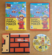 Super Mario Maker with Art Book Nintendo Wii U Game Boxed Complete NTSC-U US