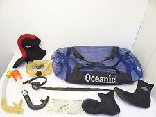 Mixed Lot Oceanic Deep See Aqua Max Scuba Gear Snorkels Sz 6 Boots Hood Compass