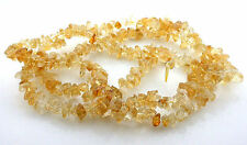 Natural Citrine Tumble Polished Chip Bead 36 Inch Strand Gem Gemstone CBS34