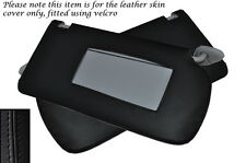 BLACK STITCH FITS HONDA ACCORD MK7 2003-2007 2X SUN VISORS LEATHER COVERS ONLY