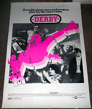 ROLLER DERBY original large ROLLED 40x60 poster CHARLIE O'CONNELL/ANN CALVELLO