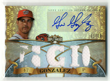 2013 Topps Triple Threads Gio Gonzalez Game Used Autograhed Card 11/18
