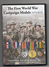 CD ROM: FIRST WORLD WAR MEDALS - 10.9 MILLION MEDALS - 4.6. MILLION SOLDIERS