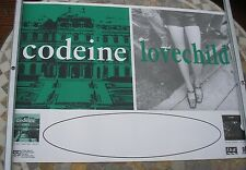 CODEINE + LOVECHILD Barely Real 1992 tour poster 33 x 23  original