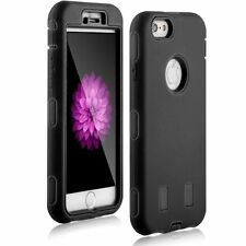 "For IPhone 6 6s 4.7"" Hybrid Protective Armor Strong SturdyTough Case Cover Black"