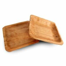 Enrico Products 2171 Rootworks Root Wood Square Plate (Set of 2)