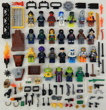 25 NEW LEGO MINIFIG LOT city town Men Women accessories minifigure people zombie