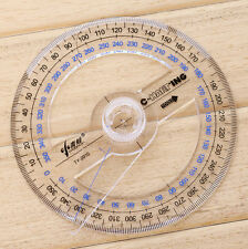 FD4820 Plastic 360 Degree Protractor Ruler Angle Finder Swing Arm School Office
