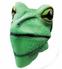 FROG Overhead Fancy Dress Costume MASK Green Toad