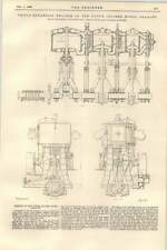 1899 Engines Of The Dutch Cruiser Noord Brabant