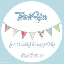 35 x Thank You Bunting Cute Personalised Labels Thank You Party Stickers - 394