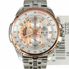 Casio Edifice Men's Wristwatch - EF-558D-7AV STEEL COPPER WHITE DIAL CHRONOGRAPH