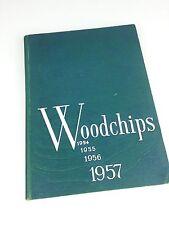 Woodstown High School Class of 1957 Woodchips Yearbook 1956 1955 1954
