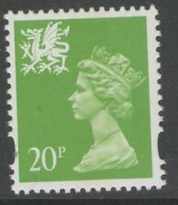 WALES SGW72 1996 20p BRIGHT GREEN MNH
