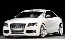 Rieger Seitenschweller Carbon-Look mit Schacht und Ausschnitt für Audi A5 B8