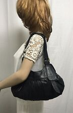 BCBGMAXAZRIA black leather purse shoulder bag