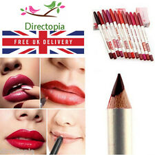 12 Colour Set TRUE LIPS Lip Liner Pencils Cosmetic Make Up Kit FREE UK DELIVERY