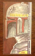 Topps Empire Strikes Back 30th Anniversary Boba Fett color sketch card 1/1 Maell