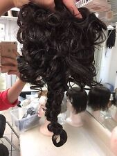 Women's Synthetic Clip In Black with Gray Ponytail Extensions Costumes Cosplay