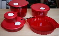 Tupperware Rock N Serve Microwave Container Set 5 New