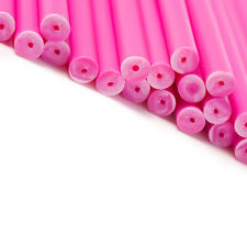 x500 190mm x 4.5mm Pink Coloured Plastic Lollipop Lolly Cake Pop Sticks Crafts