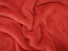 FLEECE WELLNESS Stoff Bekleidung 100% Polyester Decken Kissen Schal ROT
