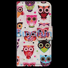 Colorful Cartoon Owl Bird Wallet Leather Cover Case for Samsung Galaxy S3 i9300