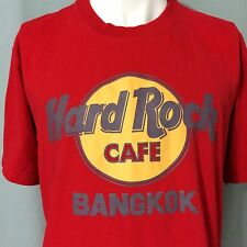 Hard Rock Cafe Bangkok Large Red T-Shirt Thailand Classic Logo HRC Mens Preowned