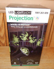 Gemmy LED Light Show Projection GREEN WITCH Halloween Light Whirl-A-Motion