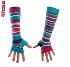 United Oddsocks Striped Long Arm Warmer Sleeves Stripy Odd Fingerless Gloves