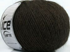 Peru Alpaca Light DK Yarn #38141 Dark Brown Ice 50gr 191yds Alpaca, Merino Wool