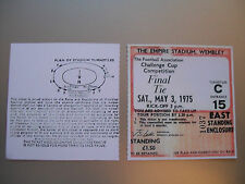 1975 F.A. Cup Final Ticket West Ham United v Fulham mint condition.