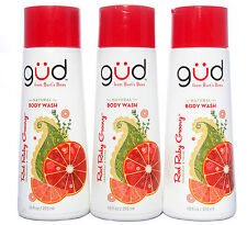 Burt's Bees gud Natural Body Wash Red Ruby Groovy Grapefruit 10 oz. Lot of 3