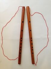 2 FENG SHUI GOOD LUCK BAMBOO FLUTE HANGING  PROTECTION