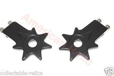 Chain Tensioner Adjuster Alloy Star Pair BMX Old School Fixie Bicycle Bike Black