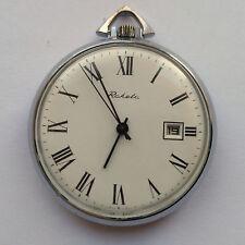 Raketa Vintage USSR Pocket watch. Beautiful face! Mechanical 2614.H. 1980s