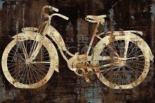 VINTAGE BICYCLE ART PRINT - Vintage Ride by Amanda Wade 36x24 Bike Cycle Poster