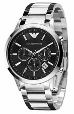 Emporio Armani Black / Silver Classic Watch Quartz Analog Men's Watch AR2434